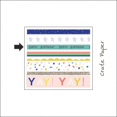 Crate Paper Washi Tape Roll Hooray Collection