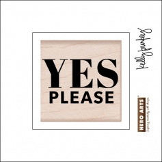 Hero Arts Kellys Yes Please Wood Block Rubber Stamp Clearly Kelly Collection by Kelly Purkey