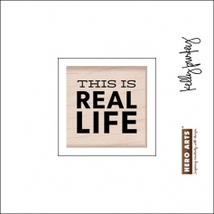 Hero Arts Kellys Real Life Wood Block Rubber Stamp Clearly Kelly Collection by Kelly Purkey
