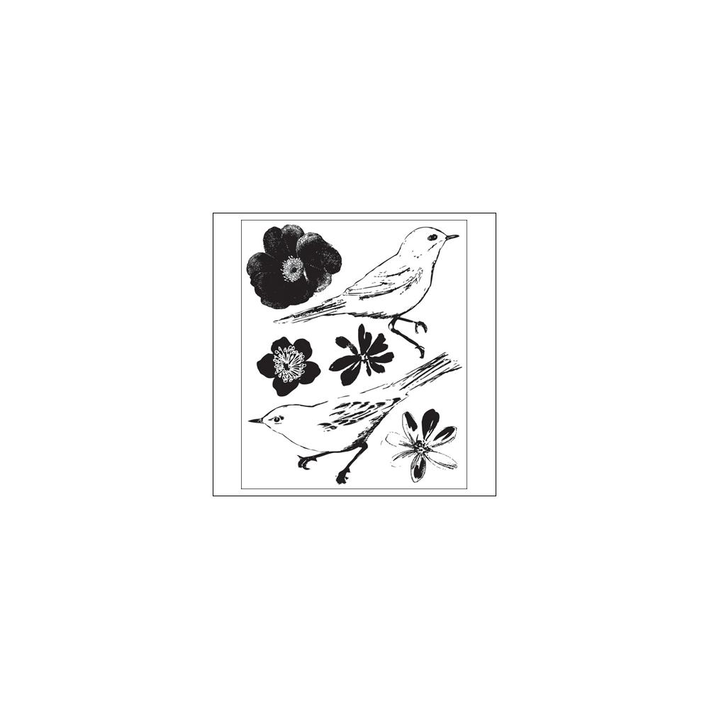 Prima Marketing Mini Clear Stamps Meadow Lark