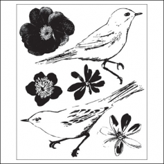 Prima Marketing Mini Clear Stamps Meadow Lark