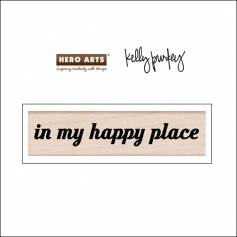 Hero Arts Kellys Happy Place Wood Block Rubber Stamp Clearly Kelly Collection by Kelly Purkey