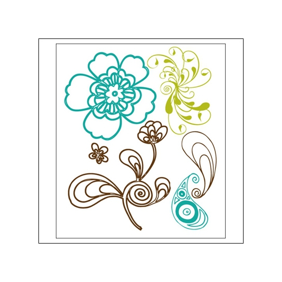 Prima Marketing Mini Clear Stamps Paisley Road