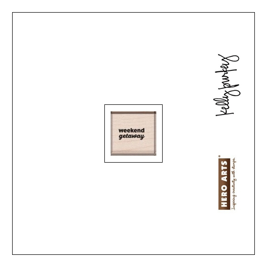 Hero Arts Kellys Travel Day Wood Block Rubber Stamp Clearly Kelly Collection by Kelly Purkey