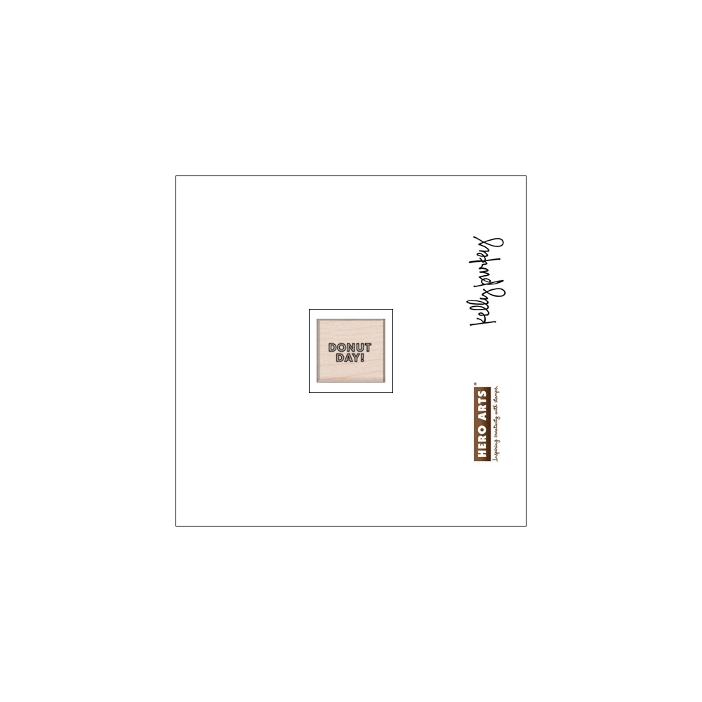 Hero Arts Kellys Coffee and Donuts Wood Block Rubber Stamp Clearly Kelly Collection by Kelly Purkey