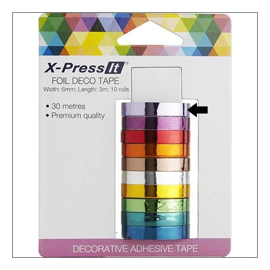 X Press It Deco Tape Roll Foil
