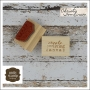 Unity Stamp Company Wood Mounted Red Rubber Stamp Create Your Canvas Words by Christy Tomlinson Designs