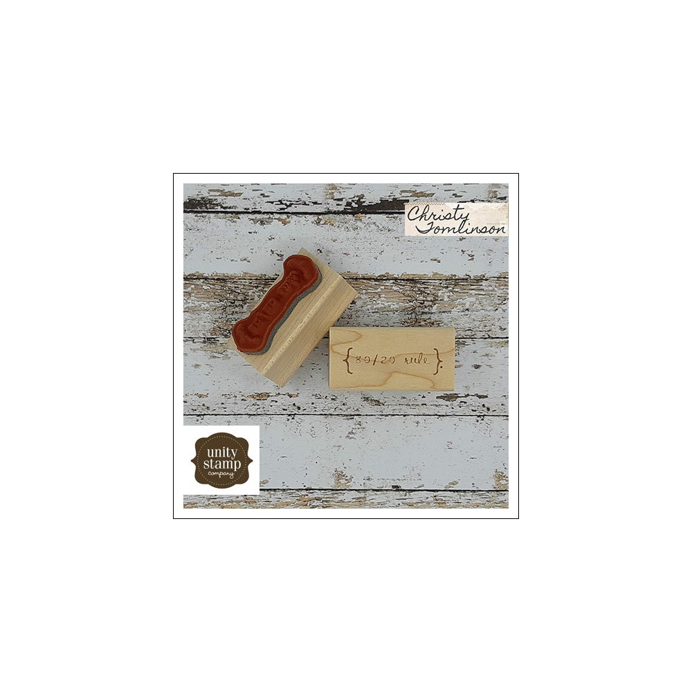 Unity Stamp Company Wood Mounted Red Rubber Stamp Create Your Living Canvas by Christy Tomlinson