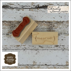 Unity Stamp Company Wood Mounted Red Rubber Stamp 80/20 rule by Christy Tomlinson