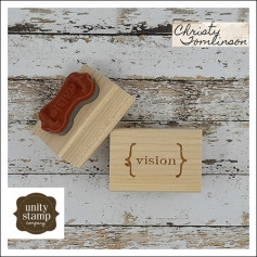 Unity Stamp Company Wood Mounted Red Rubber Stamp Vision by Christy Tomlinson
