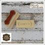 Unity Stamp Company Wood Mounted Red Rubber Stamp Simplify by Christy Tomlinson