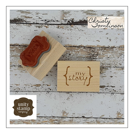 Unity Stamp Company Wood Mounted Red Rubber Stamp My Story by Christy Tomlinson