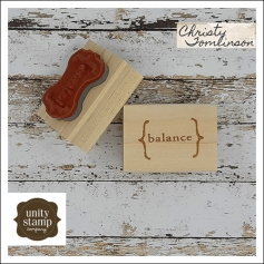 Unity Stamp Company Wood Mounted Red Rubber Stamp Balance by Christy Tomlinson
