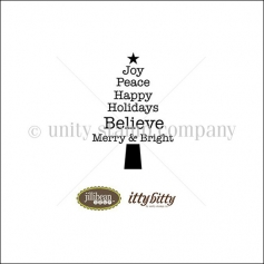 Unity Stamp Company Itty Bitty Red Rubber Stamp Mounted On Cling Foam Peace Tree by Jillibean Soup