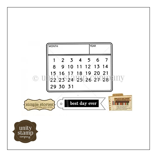 Unity Stamp Company Itty Bitty Red Rubber Stamp Mounted On Cling Foam Year o Graphy Best Day by Simple Stories