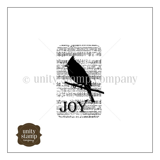 Unity Stamp Company Itty Bitty Red Rubber Stamp Mounted On Cling Foam Silhouette Song Bird