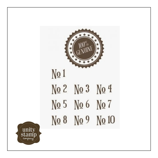 Unity Stamp Company Itty Bitty Red Rubber Stamp Mounted On Cling Foam 100 percent Genuine by Jillibean Soup