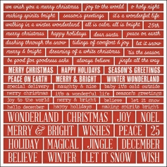 Idea-ology Advantus Christmas Words and Phrases Quote Chips by Tim Holtz