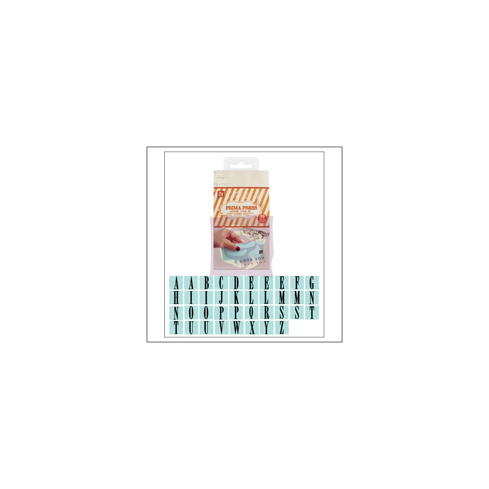 Prima Marketing Press Alphabet Rubber Mounted Stamp Set