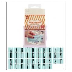 Prima Marketing Press Alphabet Rubber Mounted Stamp Set