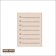Hero Arts Wood Block Rubber Stamp My Checklist