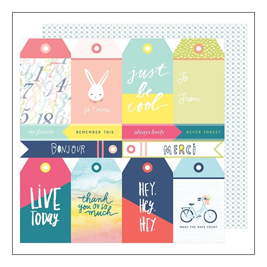 American Crafts Paper Sheet Tag You Are It Lovely Day Collection by Dear Lizzy