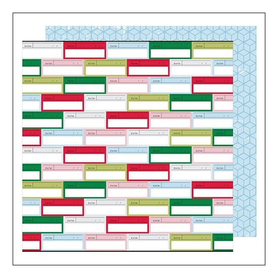 American Crafts Paper Sheet Remember When Sweater Weather Collection