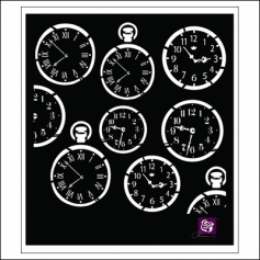Prima Marketing Stencil Clock Faces