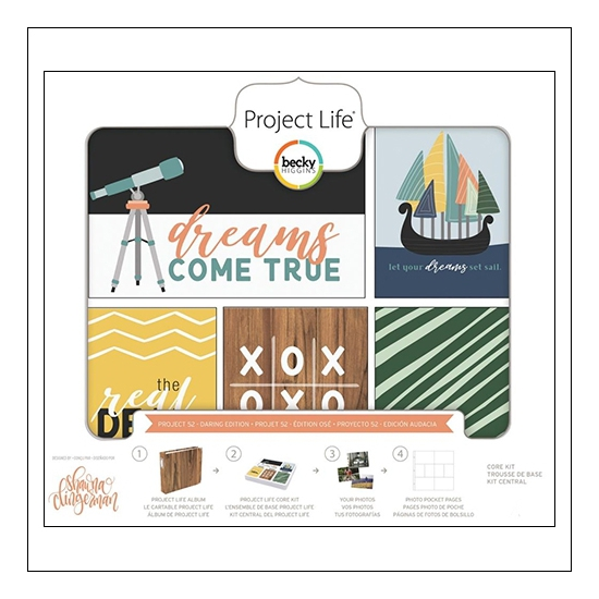 American Crafts Project Life Core Kit 3 x 4-inch Cards Project 52 Daring Edition Collection by Shawna Clingerman