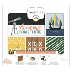 American Crafts Project Life Core Kit 4 x 6-inch 52 week Cards Project 52 Daring Edition Collection by Shawna Clingerman