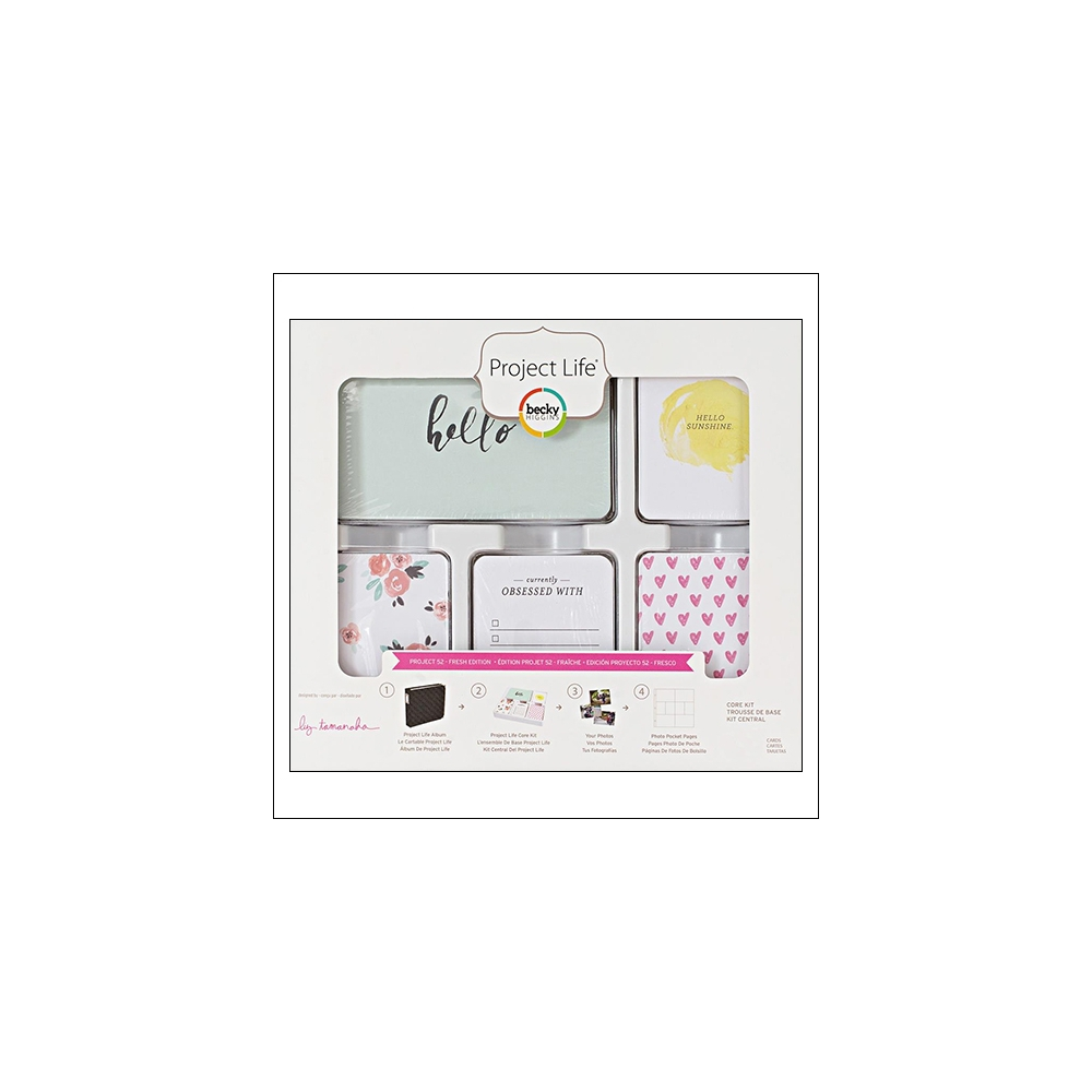 American Crafts Project Life 3 x 4 inch Core Kit Cards Set Project 52 Fresh Edition Collection by Liz Tamanaha