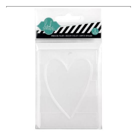 Heidi Swapp Mini Embossing Folder Heart