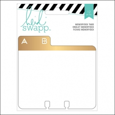 Heidi Swapp Memorydex Alphabet Tabs Wanderlust Collection