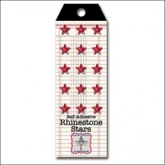 Jenni Bowlin Self Adhesive Rhinestone Stars Red