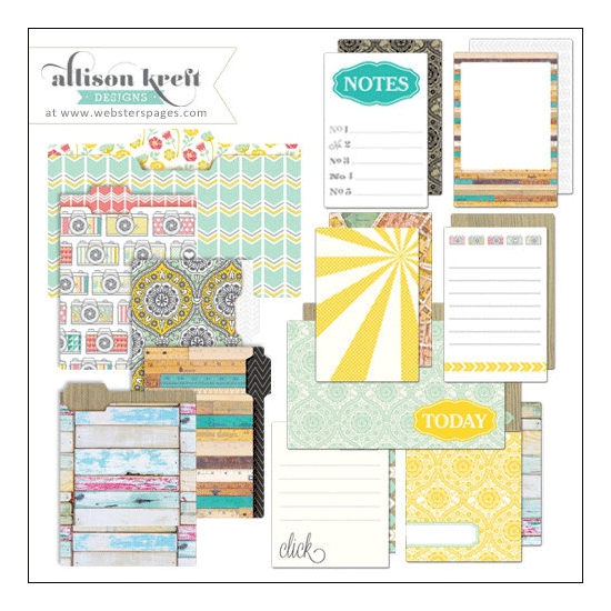 Websters Pages Mini Folders and Cards Composition and Color Collection by Allison Kreft Designs
