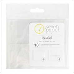Studio Calico Page Protectors 4 x 4 and 2 x 2 inch Refill Seven Paper Amelia Collection