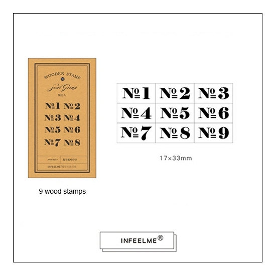InFeel.Me Wooden No Number Stamps