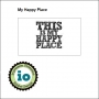 Impression Obsession Wood Mounted Stamp My Happy Place D14257