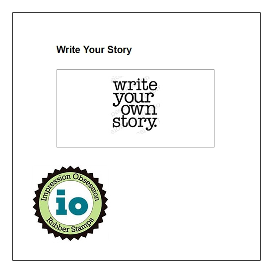 Impression Obsession Wood Mounted Stamp Write Your Story C3985