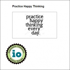 Impression Obsession Wood Mounted Stamp Practice Happy Thinking D14256