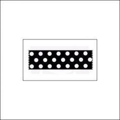 Prima Marketing Wood Mounted Rubber Stamp Washi Tape Dots