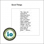 Impression Obsession Wood Mounted Stamp Good Things D14446