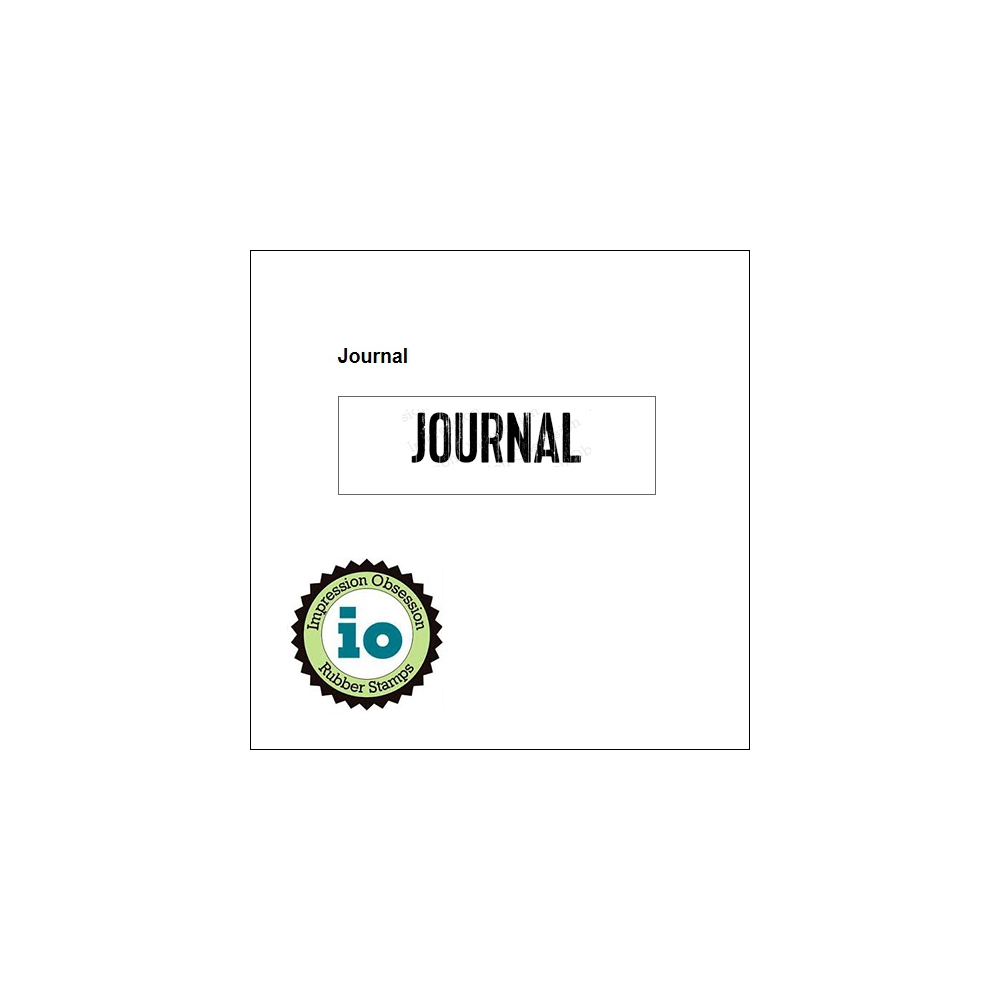 Impression Obsession Wood Mounted Stamp Journal B9345