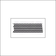 Prima Marketing Wood Mounted Rubber Stamp Washi Tape Zig Zag