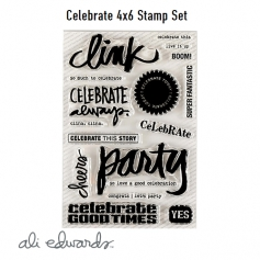 Ali Edwards Celebrate Clear Stamps