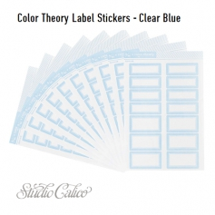 Studio Calico Color Theory Label Stickers Clear Blue