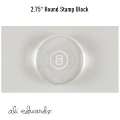 Ali Edwards Round Acrylic Stamp Block