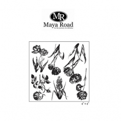 Maya Road Ornate Botanicals Clear Stamps