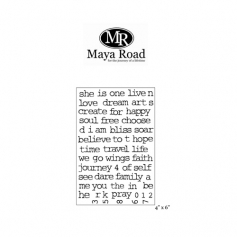 Maya Road Art Journaling Words Clear Stamps