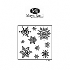 Maya Road Let It Snow Clear Stamps